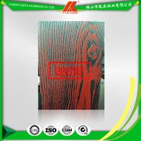 China Best Selling Aluminum Alloy Extrusions Profile 3D/4D Wood Grain Door and Windows Materials