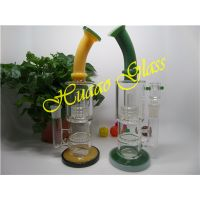 Hand blown 12 inches 5mm handmade glass smoking pipe Made from durable clear glass thumbnail image
