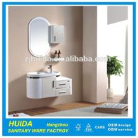 Hot sale wall mounted round shape bathroom furniture PVC bathroom cabinet