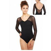 3/4 sleeves women mesh ballet leotards sexy ballet leotard BL574
