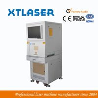 IPG 20W fiber laser marking machine with protective door