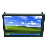 "6.95"" Double DIN Touch Screen Monitor for Car PC with AV2 Reverse Camera First For Industrial PC Car"
