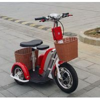 Electric Disabled Scooter/3 Wheels Electric Scooter with 500W, 48V/12ah Lithium Battery