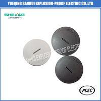 Plastic Nylon threaded plug black