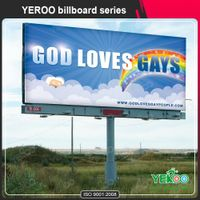 Custom double sided flex banner advertising billboard thumbnail image
