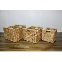New fashional S/3 water hyacinth storage basket, Competitive Price - SD4009A-3NA