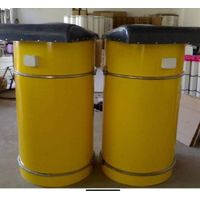 Pulse dust collector with cement top silo for sale