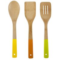 Cooking Lover Bamboo Wooden Spatula Painting Tools for Kitchen,Bamboo Silicone Color Utensil thumbnail image