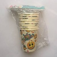 Wholesale colorful custom Spainish Happy Birthday Paper Cups
