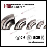 Stainless Steel Sanitary 90D Elbow Short Bend Pipe Fittings thumbnail image