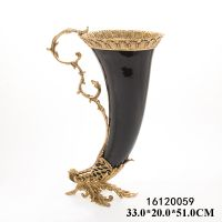 Hot Sell Luxury Antique European Beautiful Bronze with Hand Painting Porcelain Home Decoration