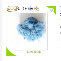 100% polyester material sky blue Color dope dyed polyester staple fiber for spinning or non-woven fa