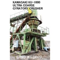 USED KAWASAKI MODEL KU-1000 (1000MM X 350MM) ULTRA COARSE GYRATORY CRUSHER S/NO. KG10177