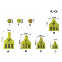 WJ406 Laser Insured Style Ear Tag