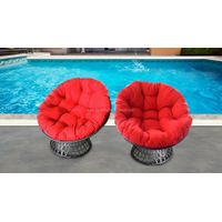 Poly rattan swivel chair with BIG cushion thumbnail image