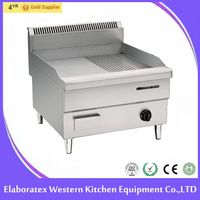 high quality stainless steel commercial gas/electric griddle factory price