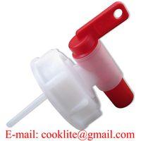 Aeroflow Breather Drum Dispensing Tap in Screw Lid DIN 61mm Plastic Spigot Faucet