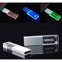 Genuine 8GB Mini USB Flash Drive Transparent Crystal Glitter Pendrive