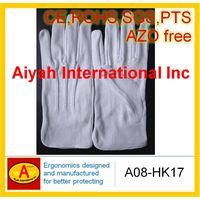 White Pure Cotton glove(CE,ROHS,SGS)(A08-HK17) thumbnail image