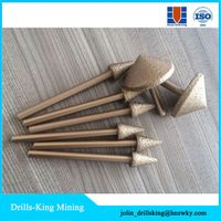 Diamond polishing grinding tool grinding head