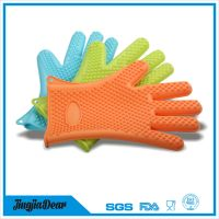 Silicone BBQ Oven Gloves, Heat Resistant Grill Gloves ,Silicone Oven Mitts For Grilling thumbnail image