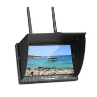 LCD5802S 5802 40CH Raceband 5.8G 7 Inch Diversity Receiver Monitor with Build-in Battery for RC Mode thumbnail image
