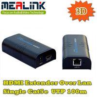 3D HDMI Extender Over LAN Single Cat5e UTP 100m thumbnail image