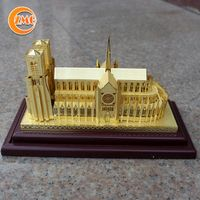 high quality decoration personalized 3D metal building crafts thumbnail image