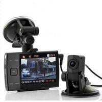 HD 720P auto dvr with Dual Lens+H.264