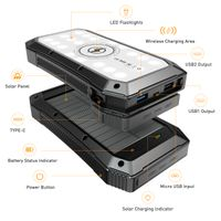 Outdoor Wireless Solar Battery Charger Bank 20000mAh 980S thumbnail image