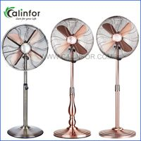 "Calinfor 16"" gourd shape metal stand fan"