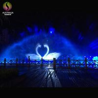 Big Show Outdoor Graphic Water Screen Projection With Movie