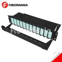 2u 288 Fiber Ultra High Density MTP Patch Panel Fully Loaded with Om3 MTP-LC Modules