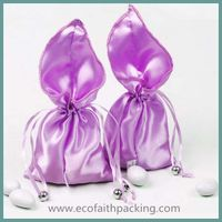 satin wedding favor pouch bag