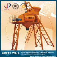 China Well-known Trademark JS1000 Concrete Mixer