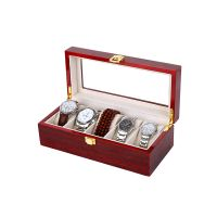 Good Quality Two Colored Wooden Watch Storage Display Gift Box 2 Slots for Couple Timepieces thumbnail image