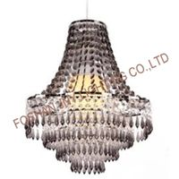 Chandelier Style Clear Acrylic Chrome Ceiling Light Shade Easy Fit Pendant Lamp