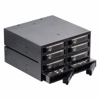2.5in SAS/SATA Removable Metal 8 Bay SSD/HDD Backplane Enclosure Mobile Rack thumbnail image