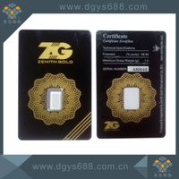 Anti-counterfeiting gold coin card cover