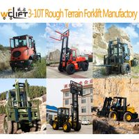 WELIFT 3-10T rough terrain forklift manufactory