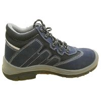 Deep Blue Steel Toe Suede Leather Middle Cut Safety Shoes thumbnail image