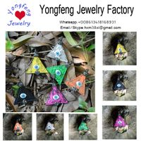 wholesale triangle snake skin evil eye pendant