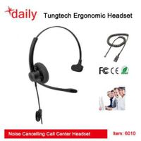 Mono Wirded Headset With QD Function,330 Swivel Plastic Flexible Mic Boom