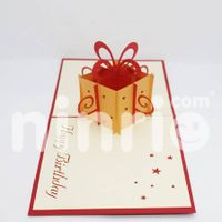 Gift box Pop Up Card Handmade Greeting Card