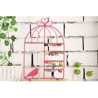 Black Jewelry Organizer Earing Holder Necklace Hanger/Stand Birdcage Jewelry Display Rack for Girls