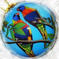 Hand painted Blown Glass Ornaments & Baubles
