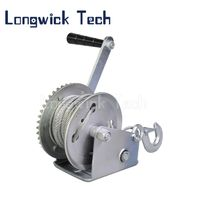 Galvanized Heavy Trailer Hand Manual Lifting Pulley Winch with Crank thumbnail image