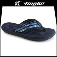 Promotion high quality black color custom printed eva slipper men flip flops beach thumbnail image