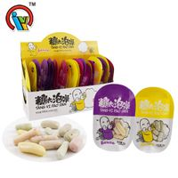 15g Crispy Gummy Candy Mixed Fruit Flavor Sweet Gummy