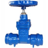 Socket End Resilient Seated Gate Valve For PVC Pipe